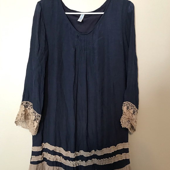 Paisley Grace Dresses & Skirts - Women's Paisley Grace Navy Tan Dress Size Medium